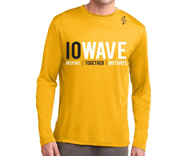 IOWAVE Men's Long Sleeve Performance Shirt-Gold