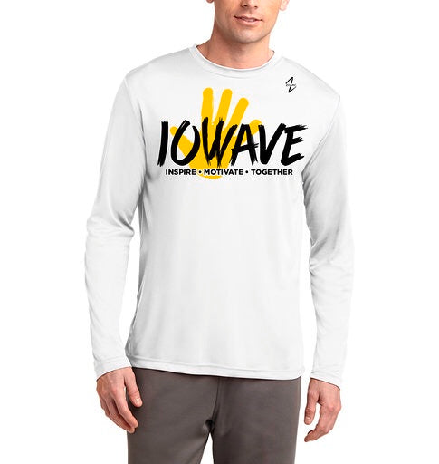 IOWAVE Men's Long Sleeve Hand Tee-Performance (NEW 2019)