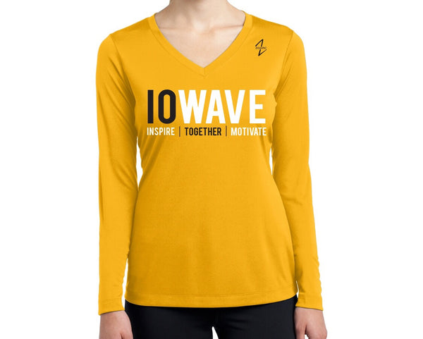 IOWAVE Women's Long Sleeve Performance Shirt-Gold