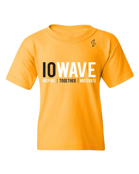 IOWAVE Youth Short Sleeve Tee-Gold