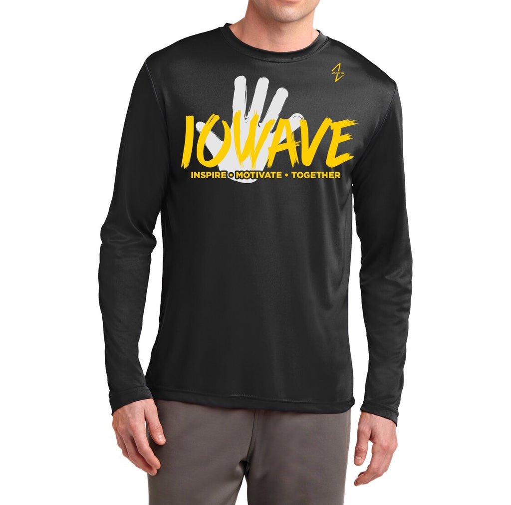 IOWAVE Men's Long Sleeve Hand Tee-Performance(NEW 2019)