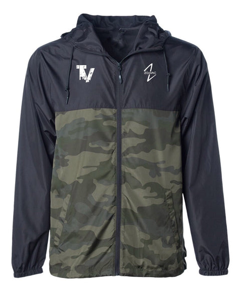 True Vision Windbreaker Jacket-Black/Forrest Camo