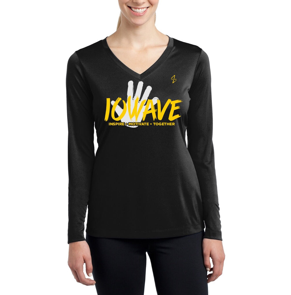 IOWAVE Women's Long Sleeve Hand Tee-Performance (NEW 2019)