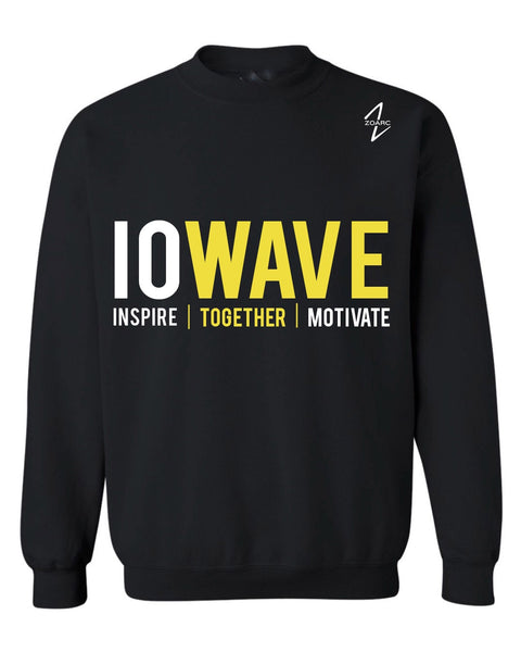 IOWAVE Crew Neck Sweatshirt-Black