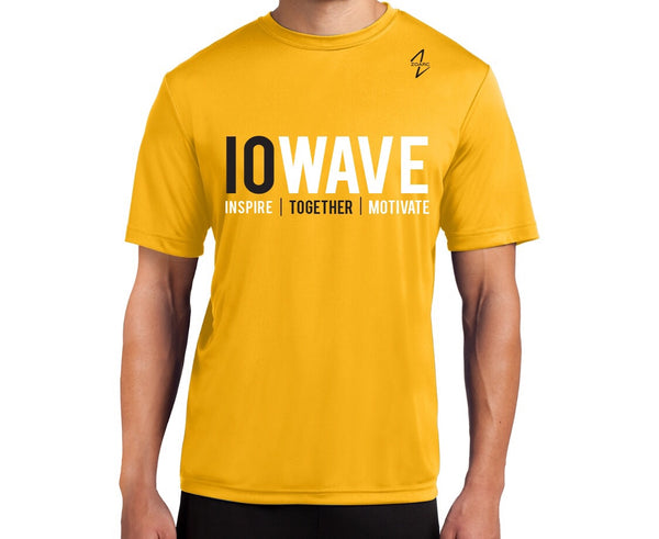 IOWAVE Men's Short Sleeve Performance Tee-Gold