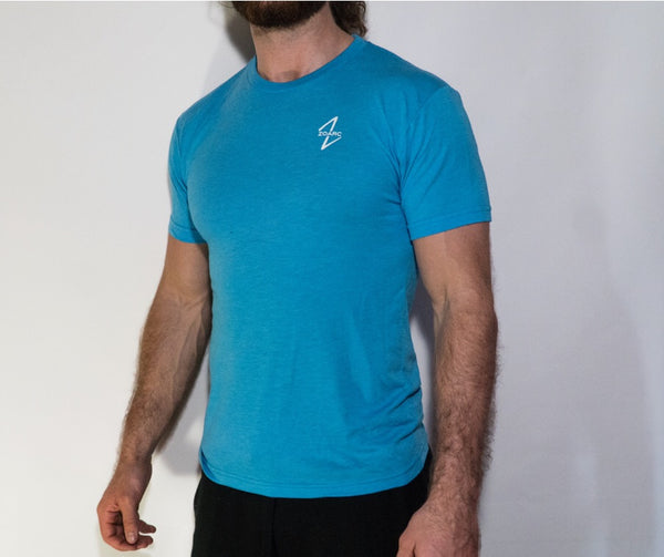 Triblend Tee-Light Blue