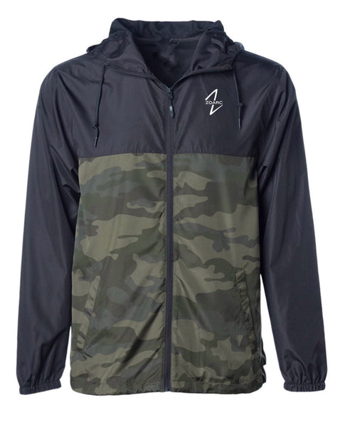 Windbreaker Jacket-Black/Forest Camo