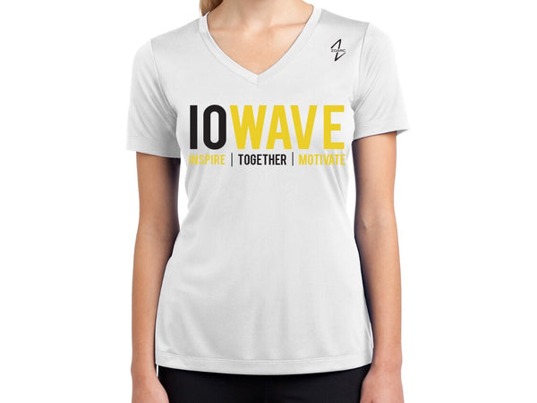 IOWAVE Women's Short Sleeve Performance Tee-White