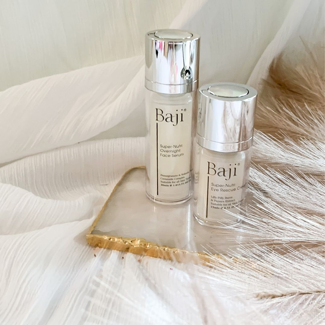 BAJI SUPER-NUTRI OVERNIGHT FACE SERUM & EYE SERUM DUO
