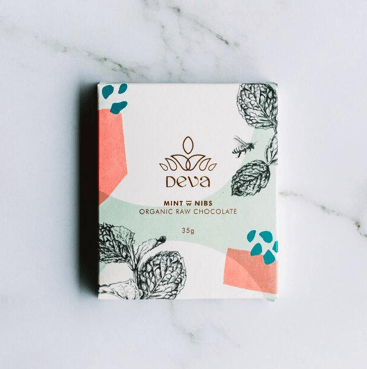 DEVA CACAO MINT & NIBS CHOCOLATE 35G