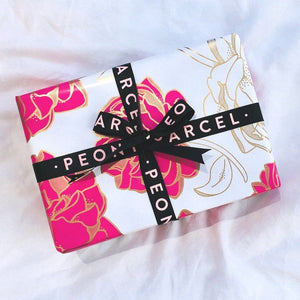 LUXURY MYSTERY PEONY WRAPPED PAMPER PARCEL - VALUED AT $200+