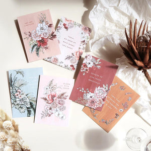 BLOOMING WITH KINDNESS - POSITIVE AFFIRMATION LUXURY FLAT CARDS SET