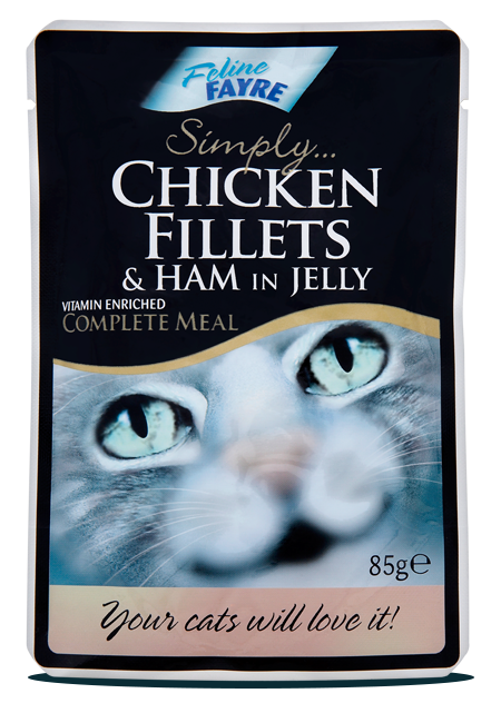 Chicken Fillets & Ham in Jelly Pouches 20 x 85g