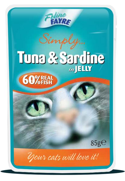 20 x Tuna & Sardine in Jelly