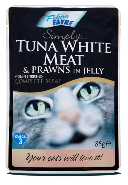 Tuna White Meat & Prawns in Jelly 20 x 85g