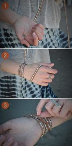 How to wrap your wrapping bracelet.