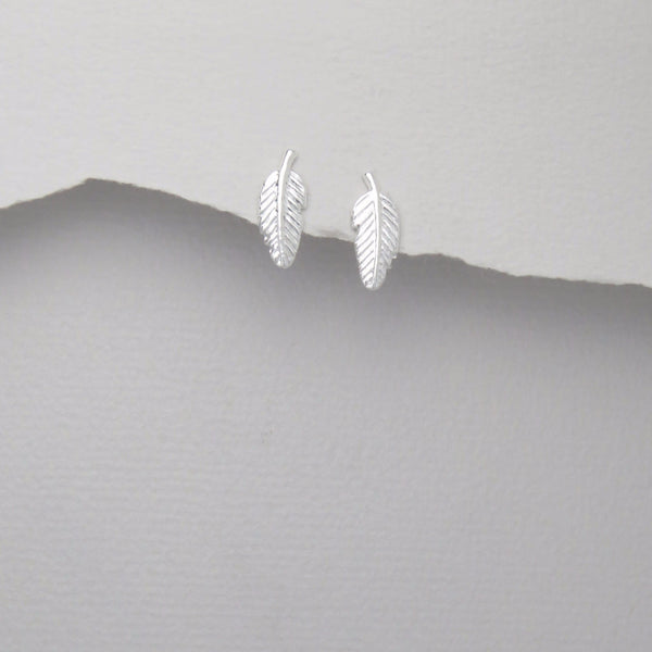 925 Sterling Silver Feather Studs - FemFit Design