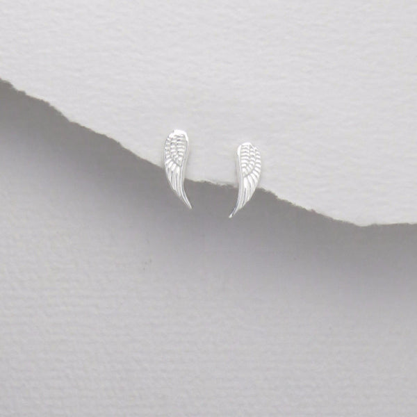 925 Sterling Silver Angel Wing Studs - FemFit Design