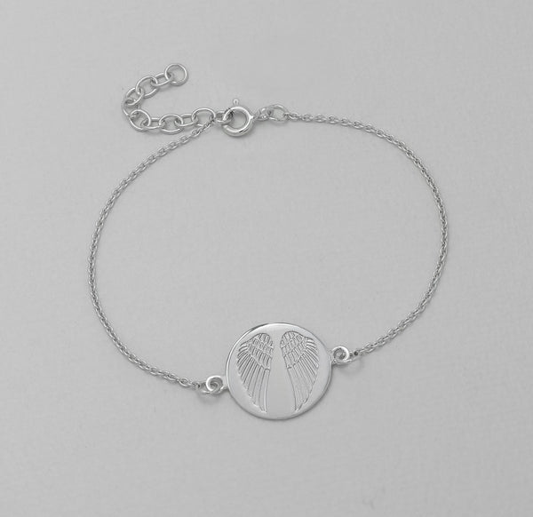 925 Sterling Silver Angel Wing Bracelet - FemFit Design