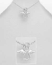 925 Sterling Silver Guardian Angel pendant - FemFit Design