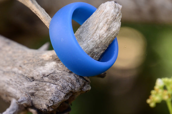 Silicone Wedding Ring - Blue - FemFit Design
