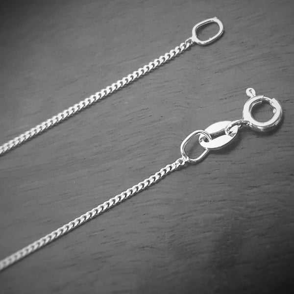 925 Sterling Silver Chain - Curb Link - FemFit Design