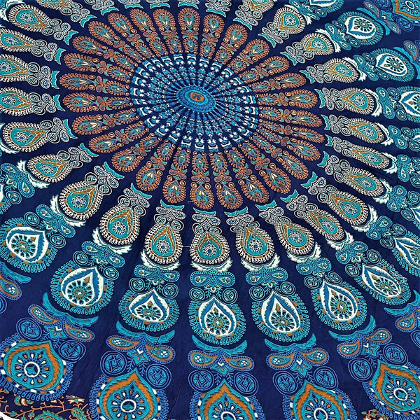 100% Cotton Mandala Round Throw - HIPPIE - FemFit Design