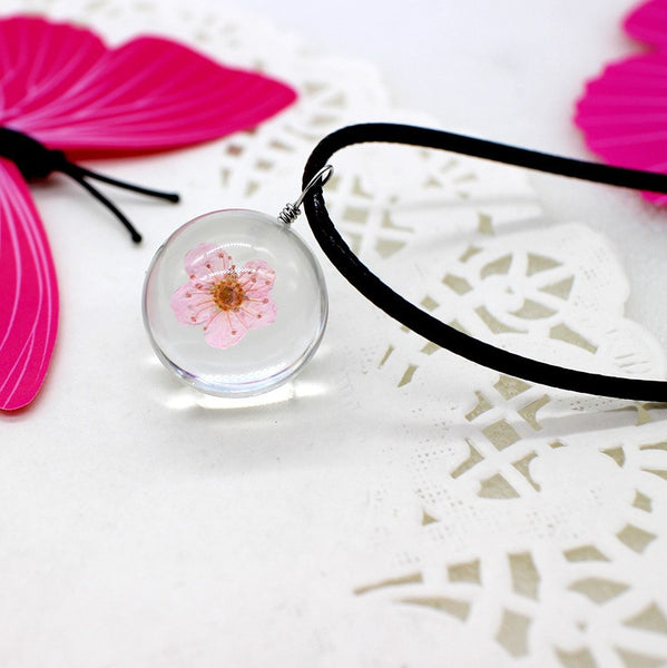 Resin Ball Necklace - Blossom - FemFit Design