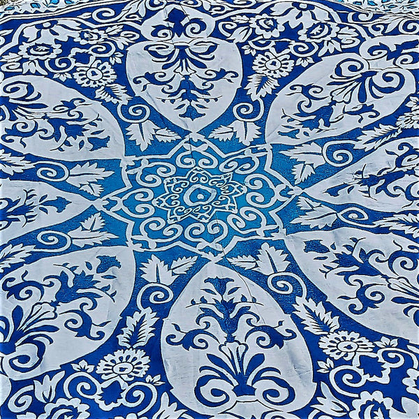 100% Cotton Mandala Round Throw - ROYAL - FemFit Design