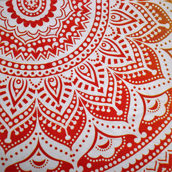 100% Cotton Mandala Round Throw - SUNRISE - FemFit Design