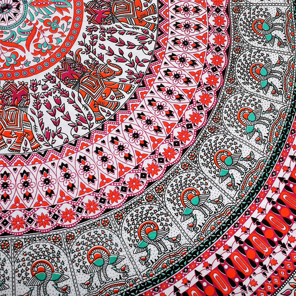 100% Cotton Mandala Round Throw - TAPESTRY - FemFit Design