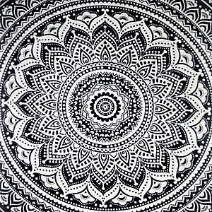 100% Cotton Mandala Round Throw - WISH - FemFit Design