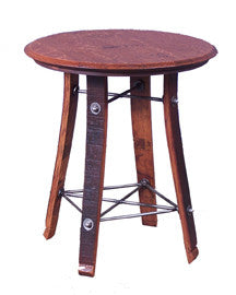 Barrel Top Side Table