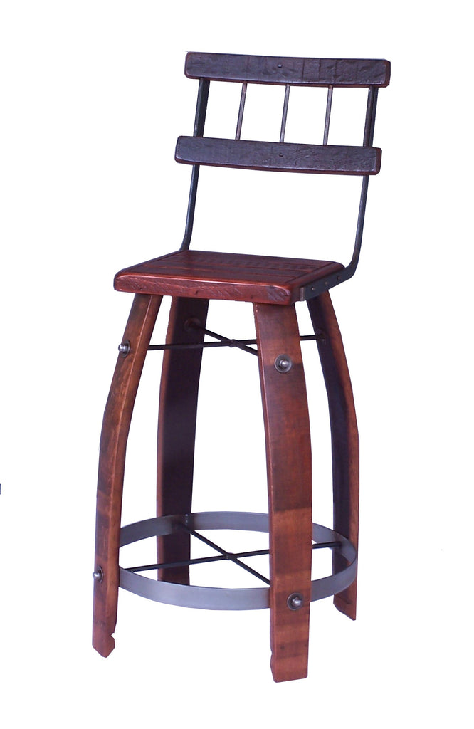 Wine Barrel Stool With Back Beaufort Home Store
