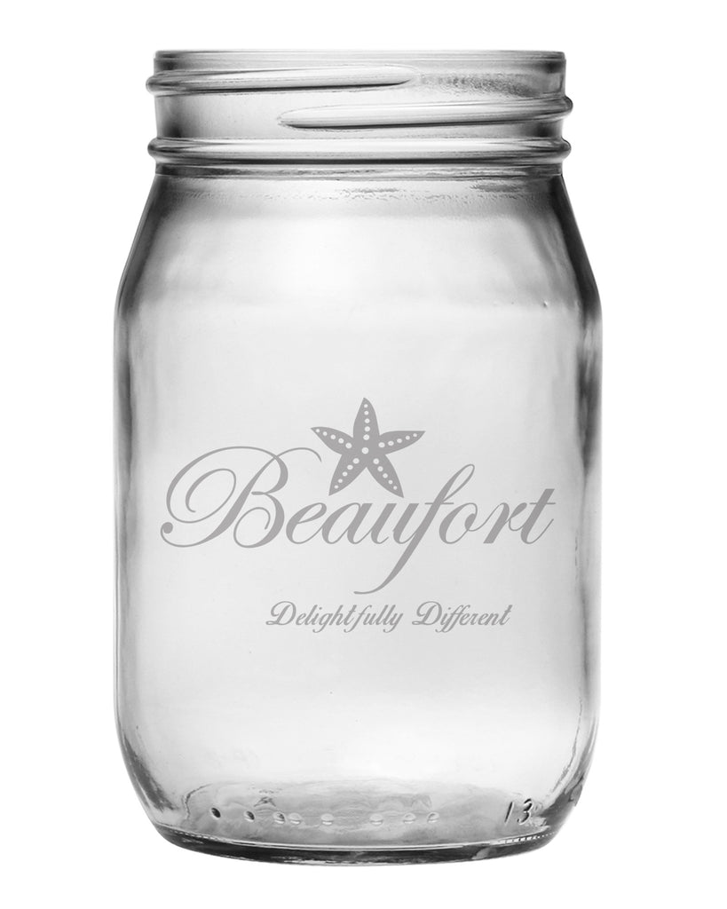 "Beaufort ""Delightfully Different"" Mason Jars"