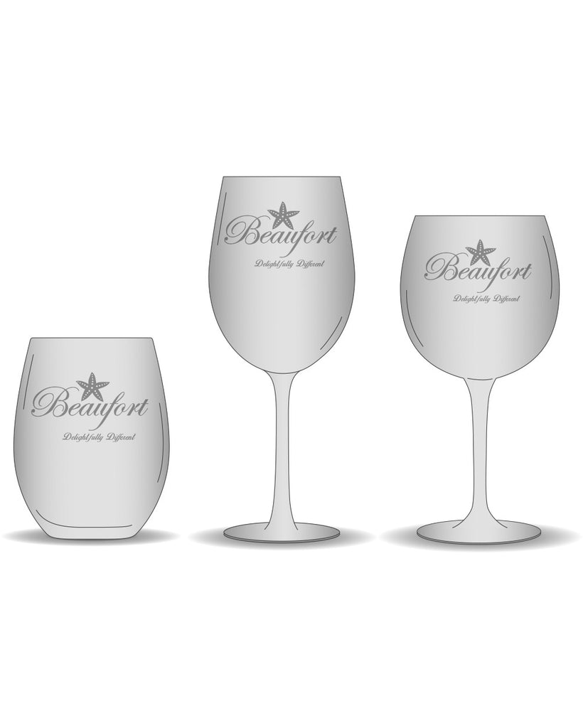 "Beaufort ""Delightfully Different"" Wine Glasses"