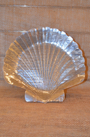 Seashell aluminum serving tray 12""