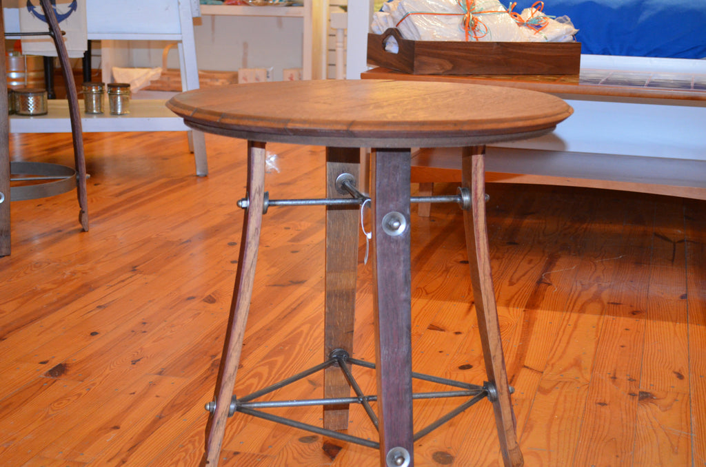 High Quality ... Barrel Top Side Table