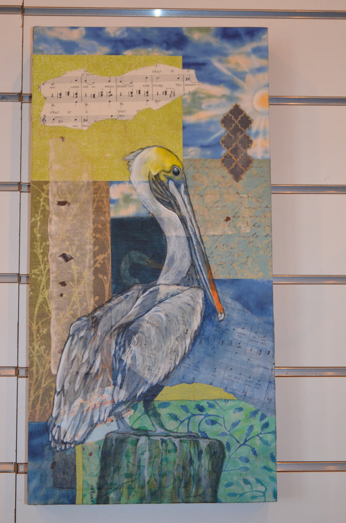 Mixed Media Pelican Wall Art
