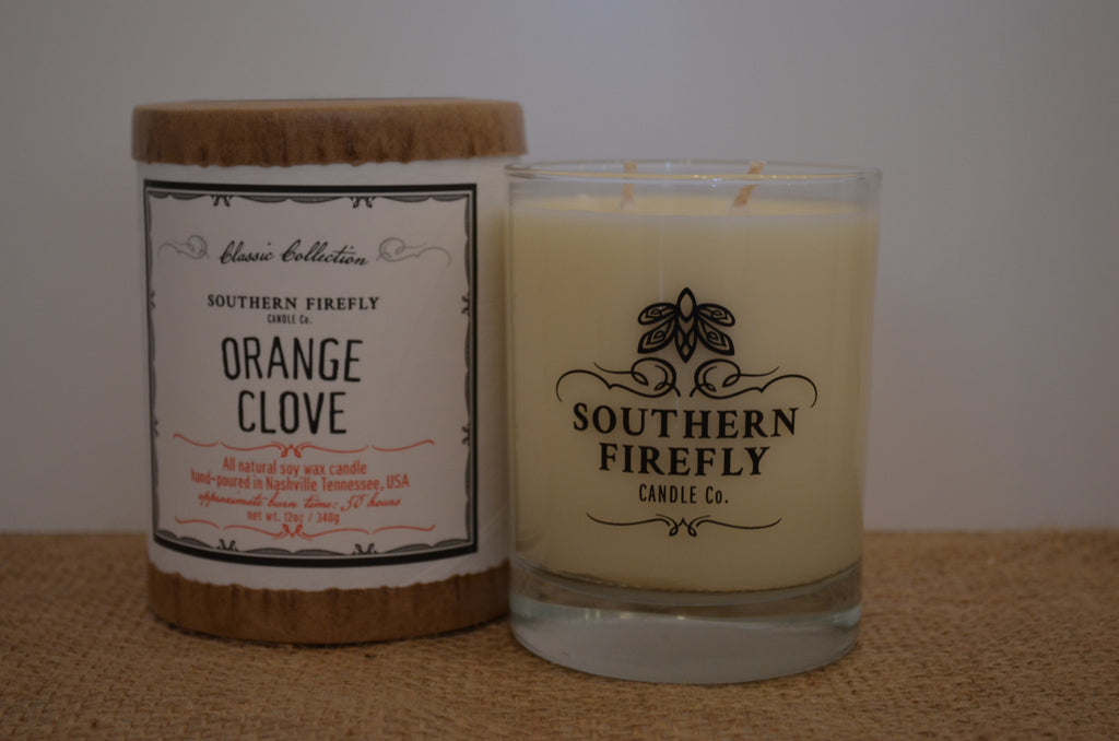 Orange Clove Scented Soy Candle