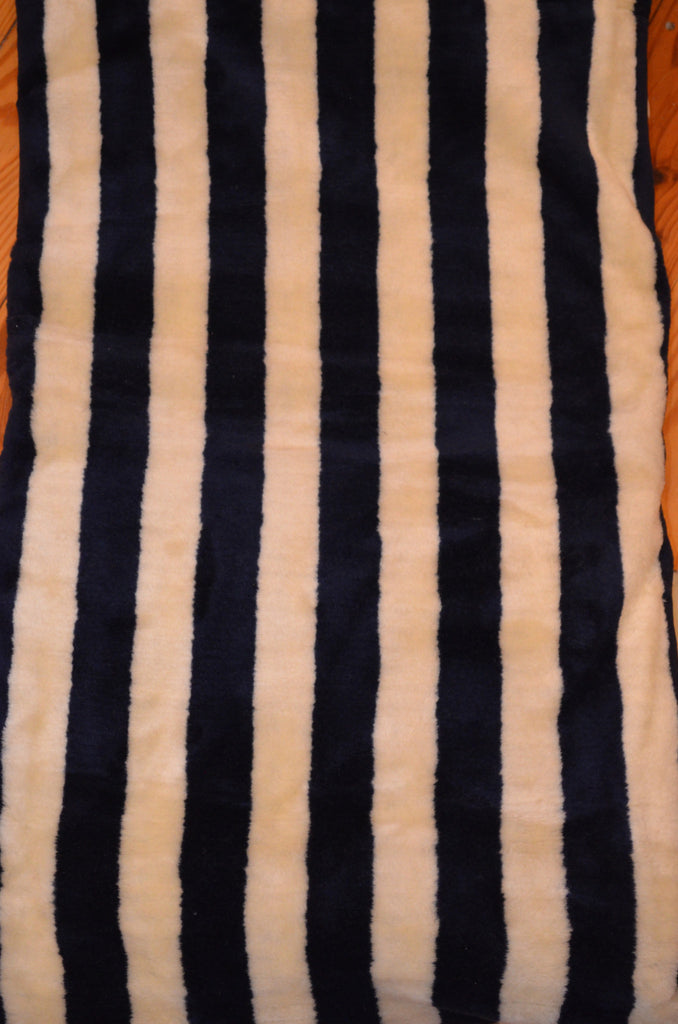 Fleece Throw 50 X 60 Stripes in Lapis