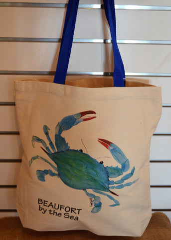 Crab Canvas Tote Bag