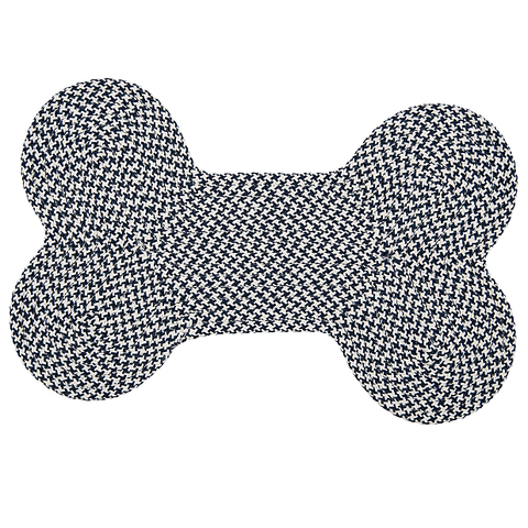 Indoor outdoor mat in shape of dog bone