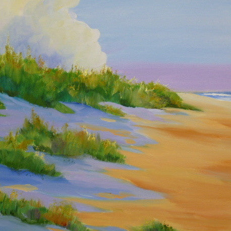 "Donna Robertson Painting ""Beauty and the Beach"" 20""x 20"""