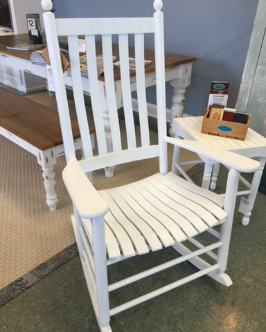 White Plantation Rocker