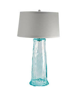 "Recycled Glass Wave Table Lamp 34""h"