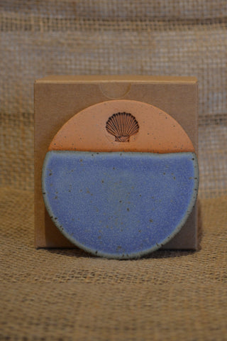 Pottery Scallop Coaster Set