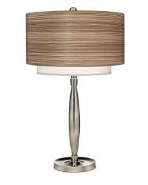 "Contemporary Polished Nickel Table Lamp 27""H"