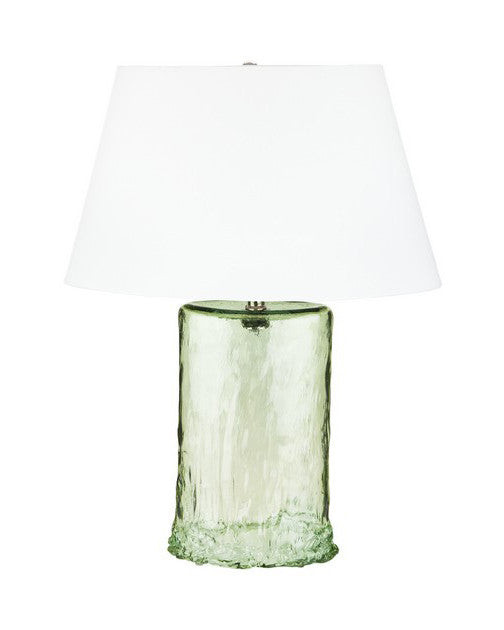 Green Oval recycled glass table lamp