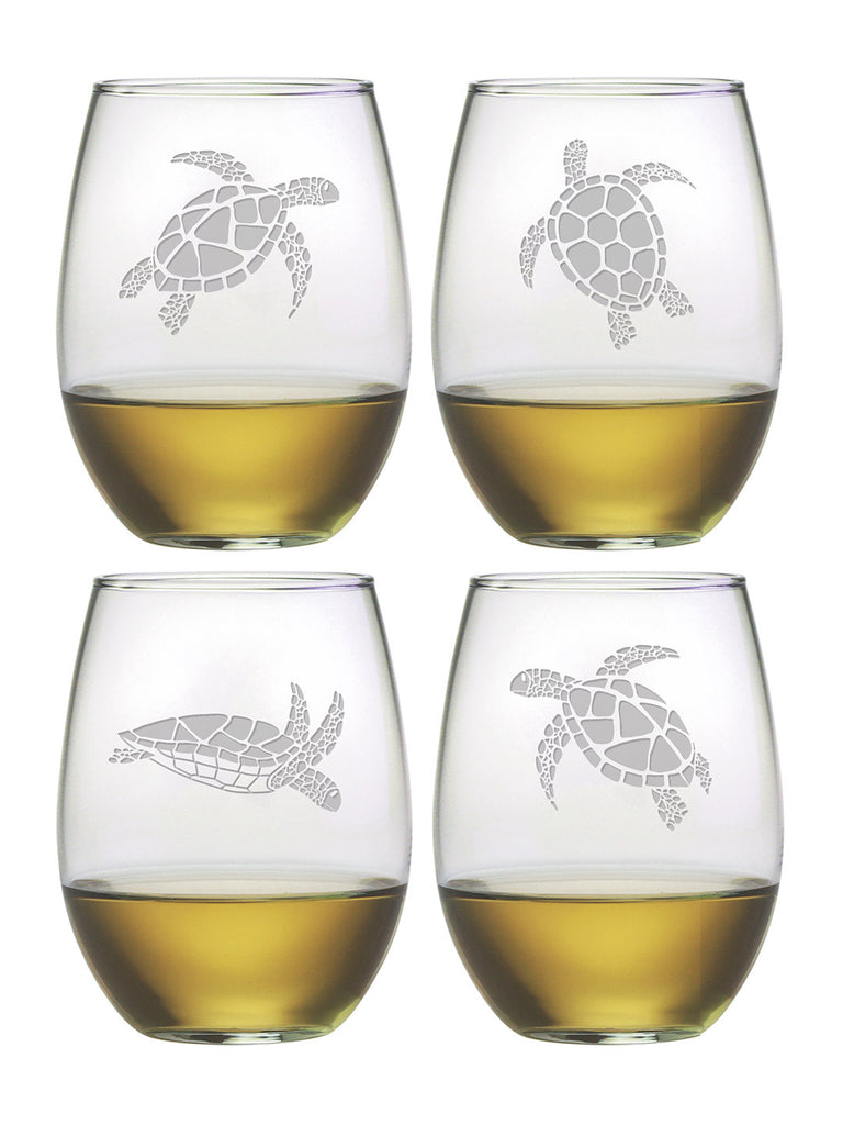 Stemless Turtle Glasses